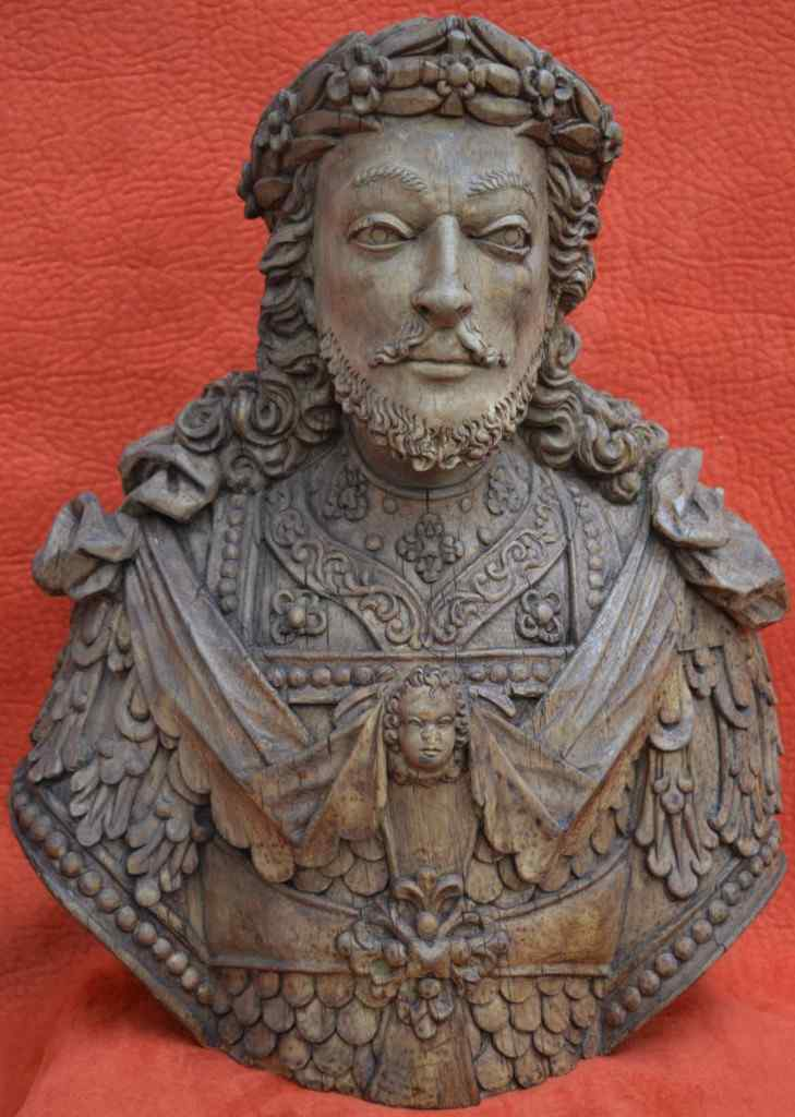 Bust of Carved Man, Tyrol, XVII.