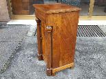 Ancien Table de Chevet Empire en noyer - 19ème siècle-4