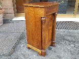 Ancien Table de Chevet Empire en noyer - 19ème siècle-3