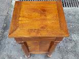 Ancien Table de Chevet Empire en noyer - 19ème siècle-13