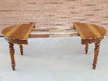 Ancien Table extensible Louis Philippe en noyer-Italie 19ème-0