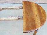 Ancien Table extensible Louis Philippe en noyer-Italie 19ème-1