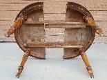 Ancien Table extensible Louis Philippe en noyer-Italie 19ème-4