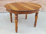 Ancien Table extensible Louis Philippe en noyer-Italie 19ème-5
