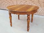 Ancien Table extensible Louis Philippe en noyer-Italie 19ème-2