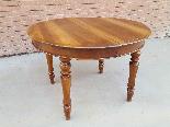 Ancien Table extensible Louis Philippe en noyer-Italie 19ème-10