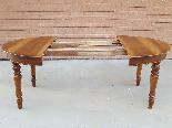 Ancien Table extensible Louis Philippe en noyer-Italie 19ème-14