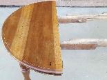 Ancien Table extensible Louis Philippe en noyer-Italie 19ème-13