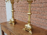 Ancien Paire de Chandeliers Napoleon III en bronze - 19ème-17