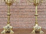 Ancien Paire de Chandeliers Napoleon III en bronze - 19ème-13