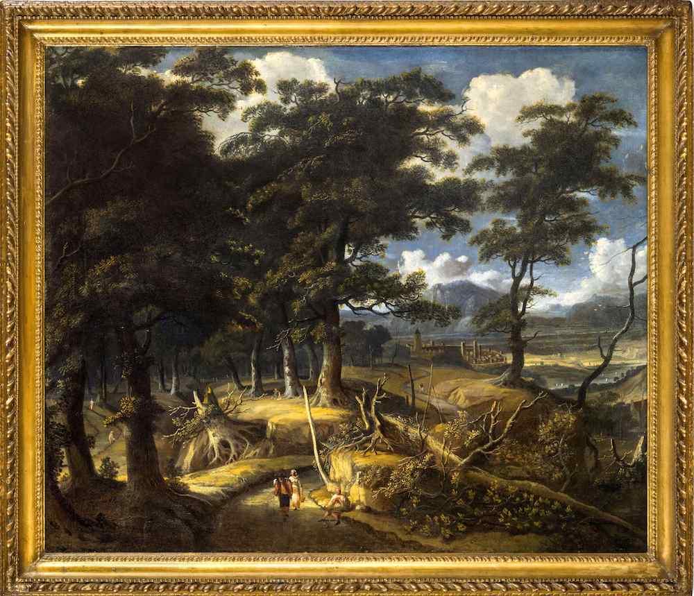 Jan Looten (Amsterdam 1618 - Angleterre 1681), Paysage boisé
