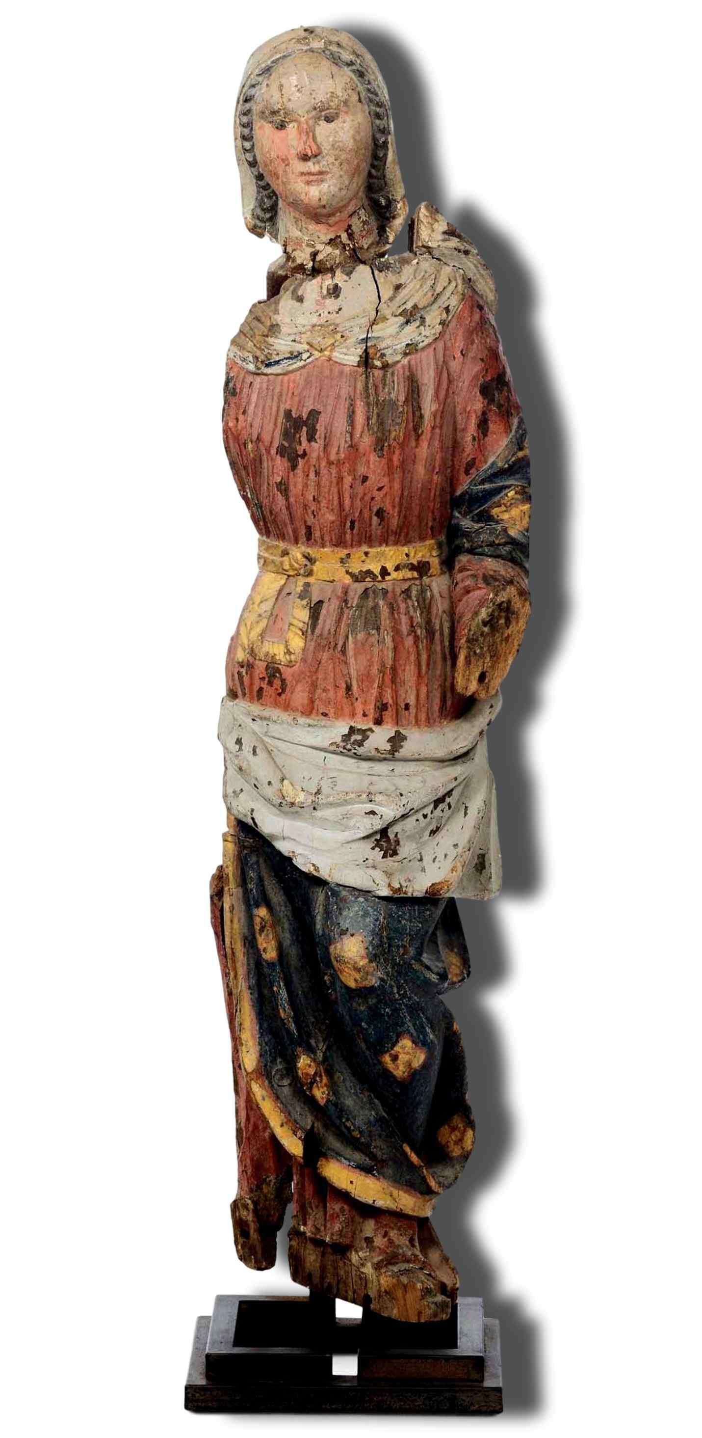 Sculpture en bois Madonna, Ombrie-Abruzzes école, XIV siècle