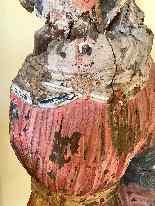 Sculpture en bois Madonna, Ombrie-Abruzzes école, XIV siècle-9