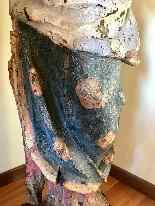Sculpture en bois Madonna, Ombrie-Abruzzes école, XIV siècle-10