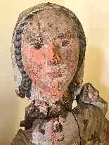 Sculpture en bois Madonna, Ombrie-Abruzzes école, XIV siècle-11