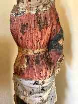 Sculpture en bois Madonna, Ombrie-Abruzzes école, XIV siècle-3
