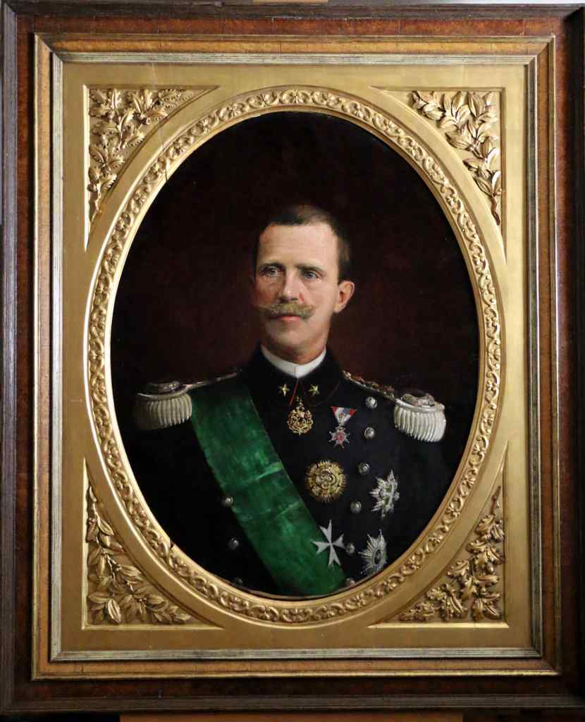 Grand Official Portrait signed and dated by Victor Emmanuel