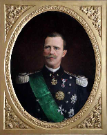 Grand Official Portrait signed and dated by Victor Emmanuel-1