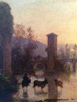 Hermann David Salomon Корроди (1844-1905) - Римский акведук-1