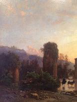 Hermann David Salomon Корроди (1844-1905) - Римский акведук-0