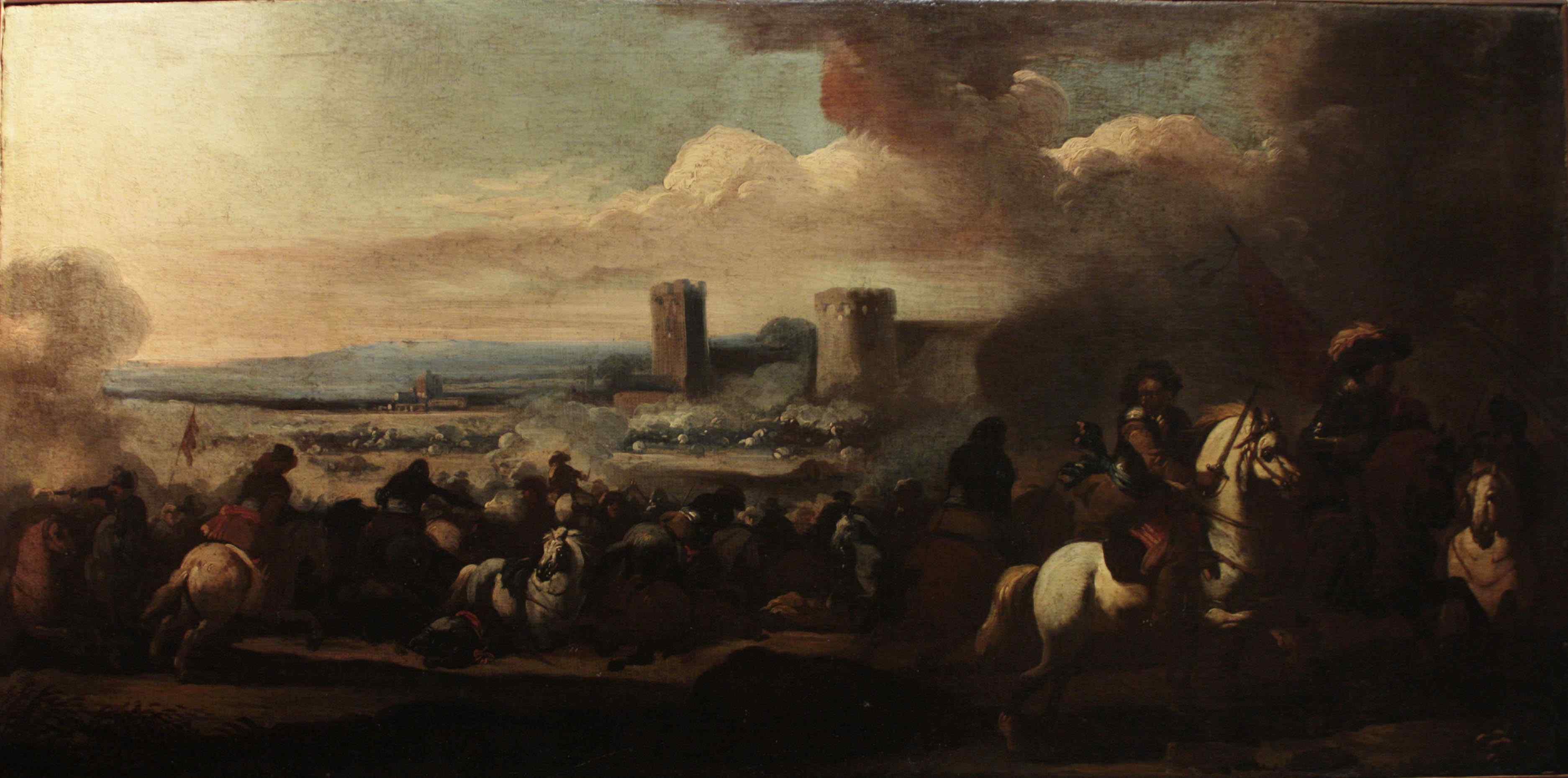 Masturzo Marzio - Battle scene around the castle