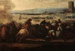 Masturzo Marzio - Battle scene around the castle-3