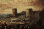 Masturzo Marzio - Battle scene around the castle-1