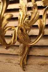 Paire d'appliques de style Louis XV en bronze doré-2