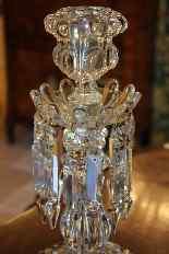 Coppia di candelieri cristallo Baccarat, modello medaglione-5