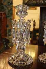 Coppia di candelieri cristallo Baccarat, modello medaglione-0