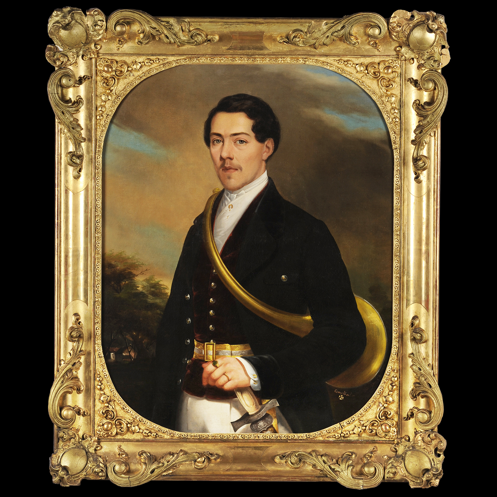Портрет Huntsman - Abraham Constantin (1785-1855)