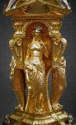 Centrotavola antico in bronzo dorato-4