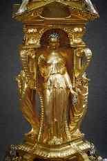 Centrotavola antico in bronzo dorato-6