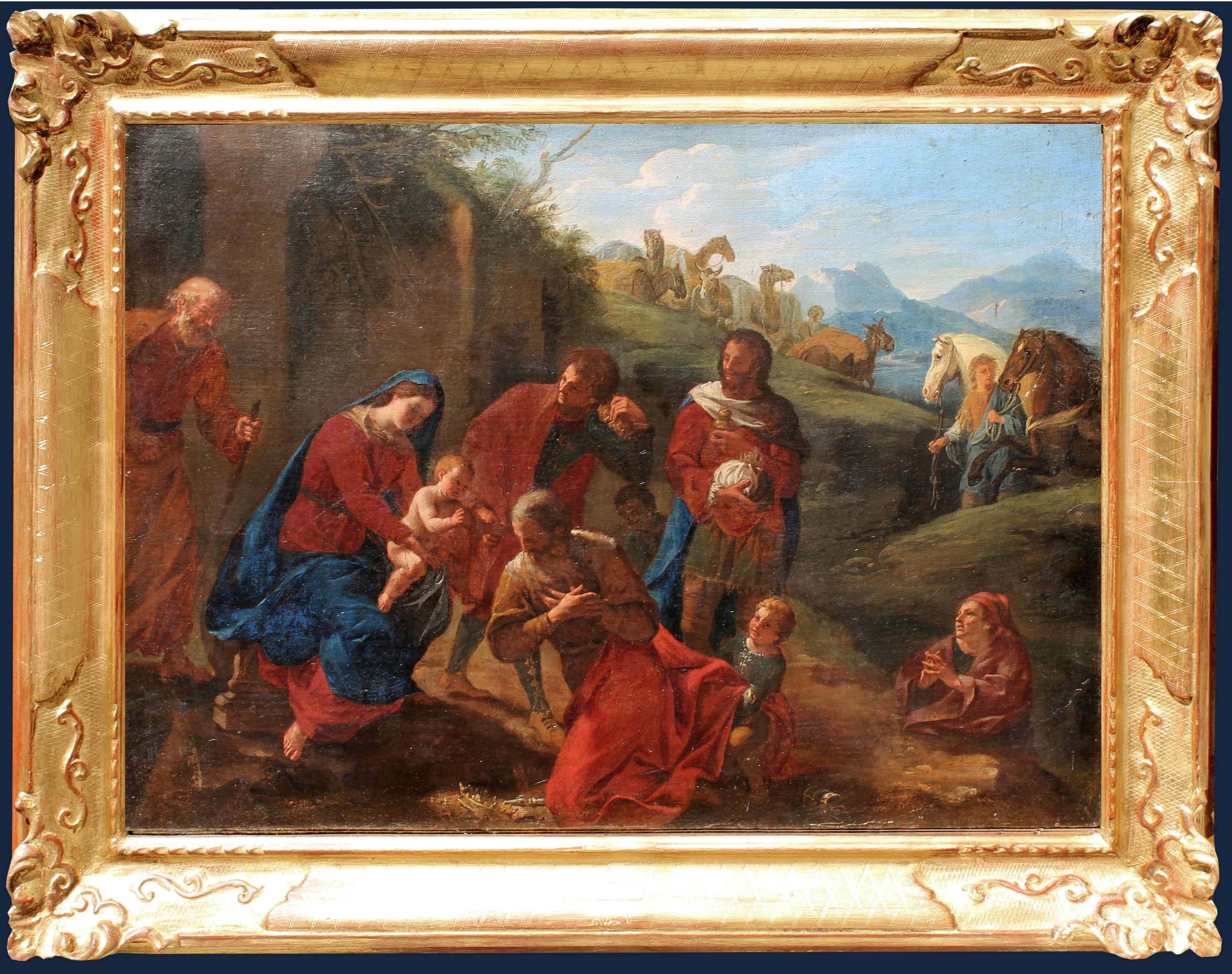 Giovan Battista Mollo (1613-1661), Adoration of the Magi