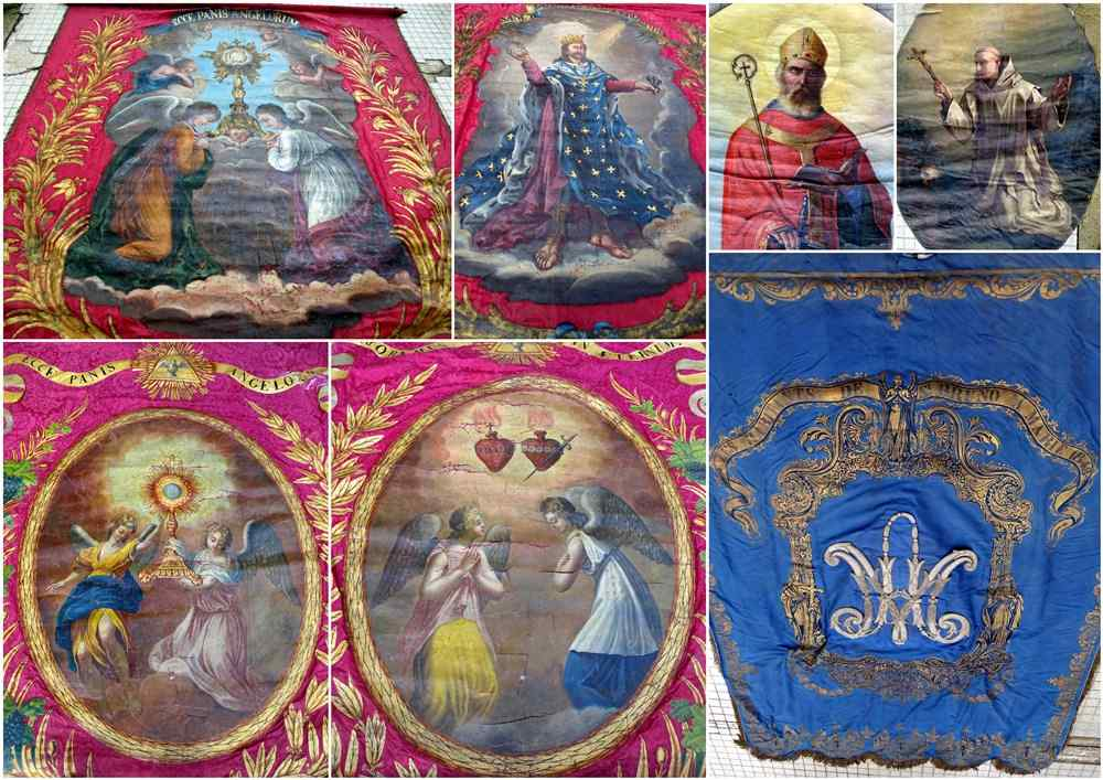 Important Lot Paintings 18th Chapel Of A Borde Castle