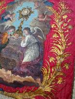 Important Lot Paintings 18th Chapel Of A Borde Castle-34