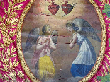 Important Lot Paintings 18th Chapel Of A Borde Castle-2