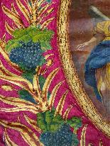 Important Lot Paintings 18th Chapel Of A Borde Castle-3