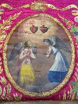 Important Lot Paintings 18th Chapel Of A Borde Castle-6