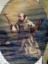 Important Lot Paintings 18th Chapel Of A Borde Castle-28