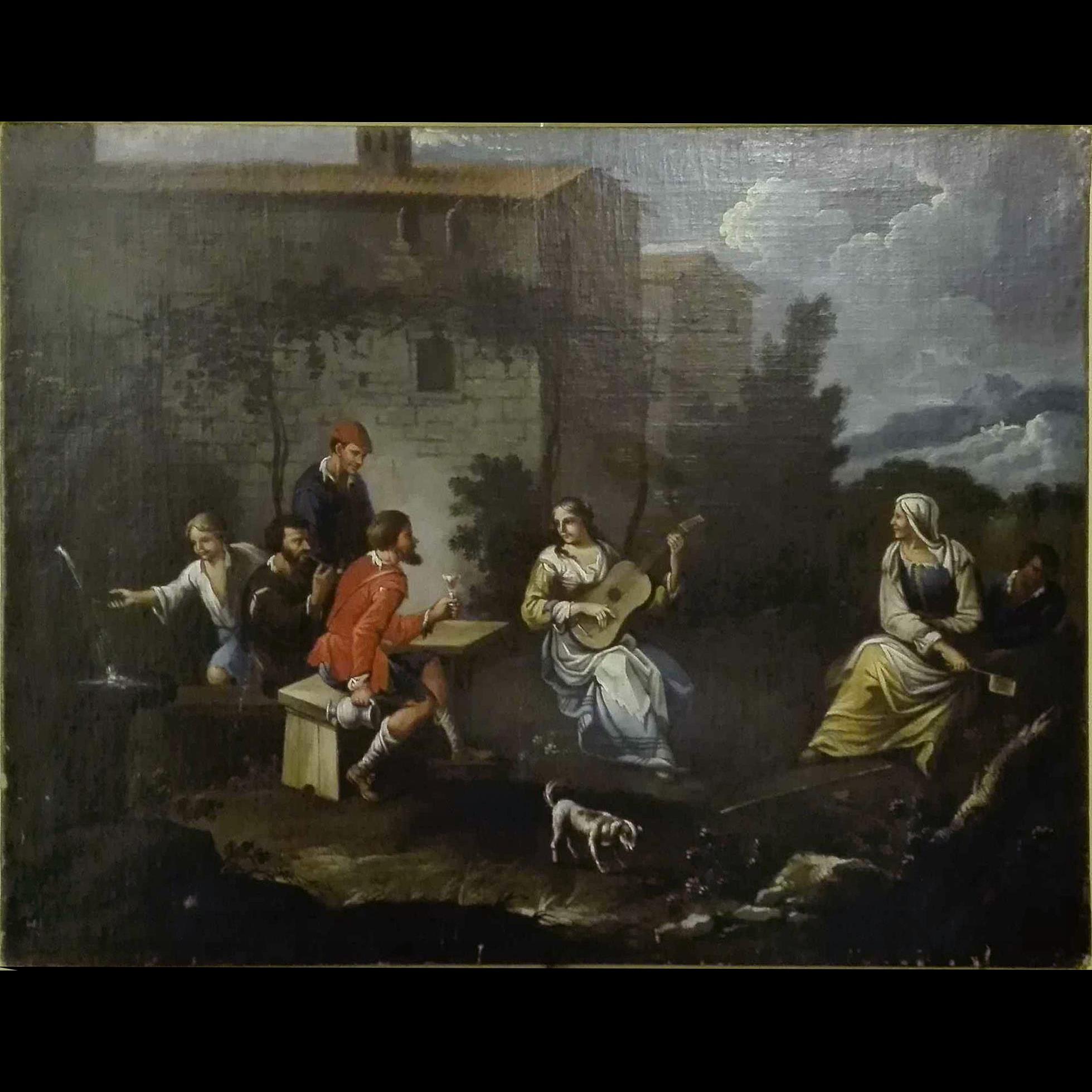 Quadro italiano, scena di genere XVIII Secolo