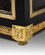 Pair of cabinets in ebony, tortoiseshell and brass-3