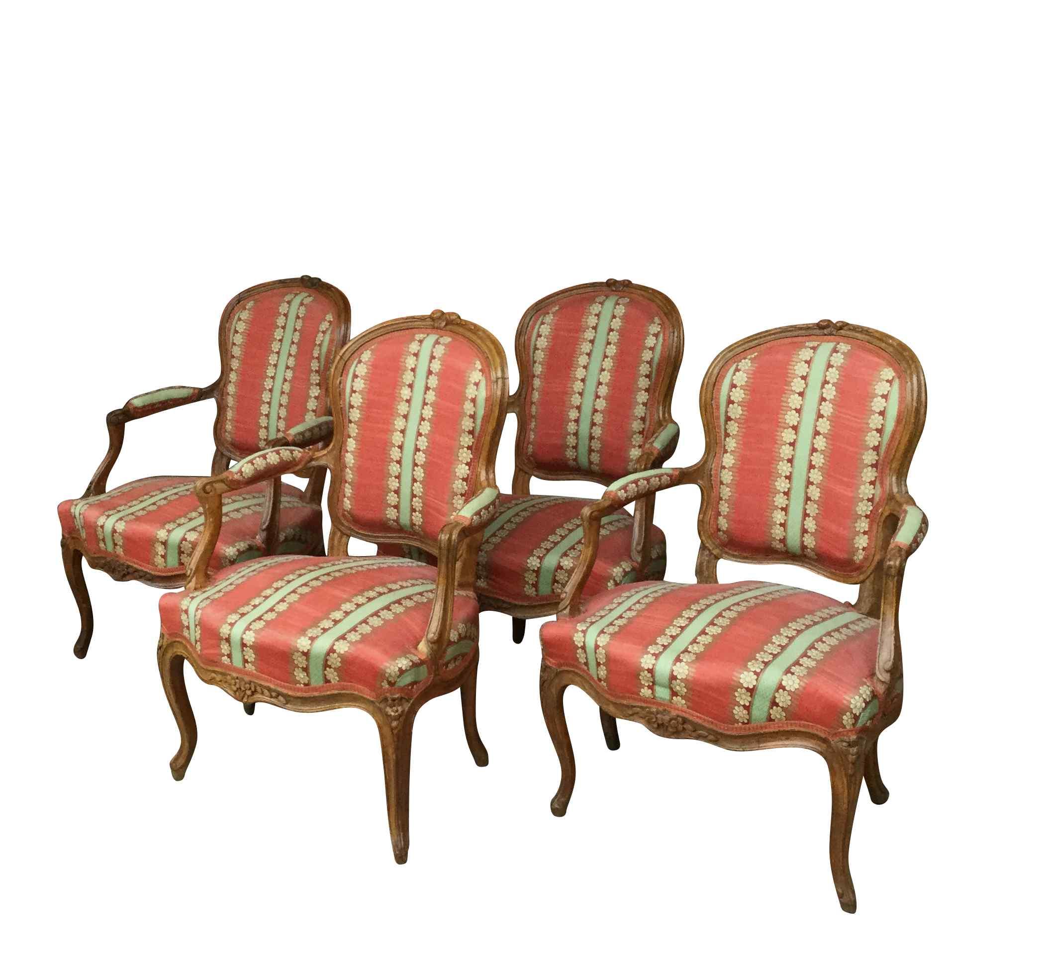 Suite de quatre fauteuils époque XVIIIème LOUIS XV