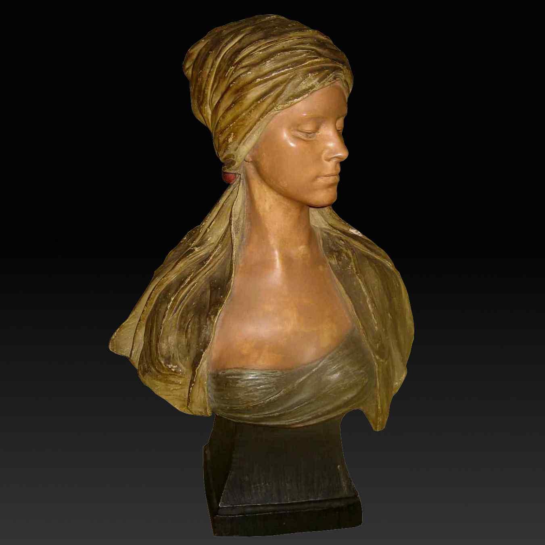 FRIEDRICH GOLDSCHEIDER Oriental woman bust