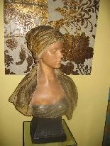 FRIEDRICH GOLDSCHEIDER Oriental woman bust-2