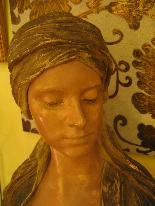 FRIEDRICH GOLDSCHEIDER Oriental woman bust-0
