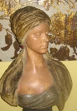 FRIEDRICH GOLDSCHEIDER Oriental woman bust-3