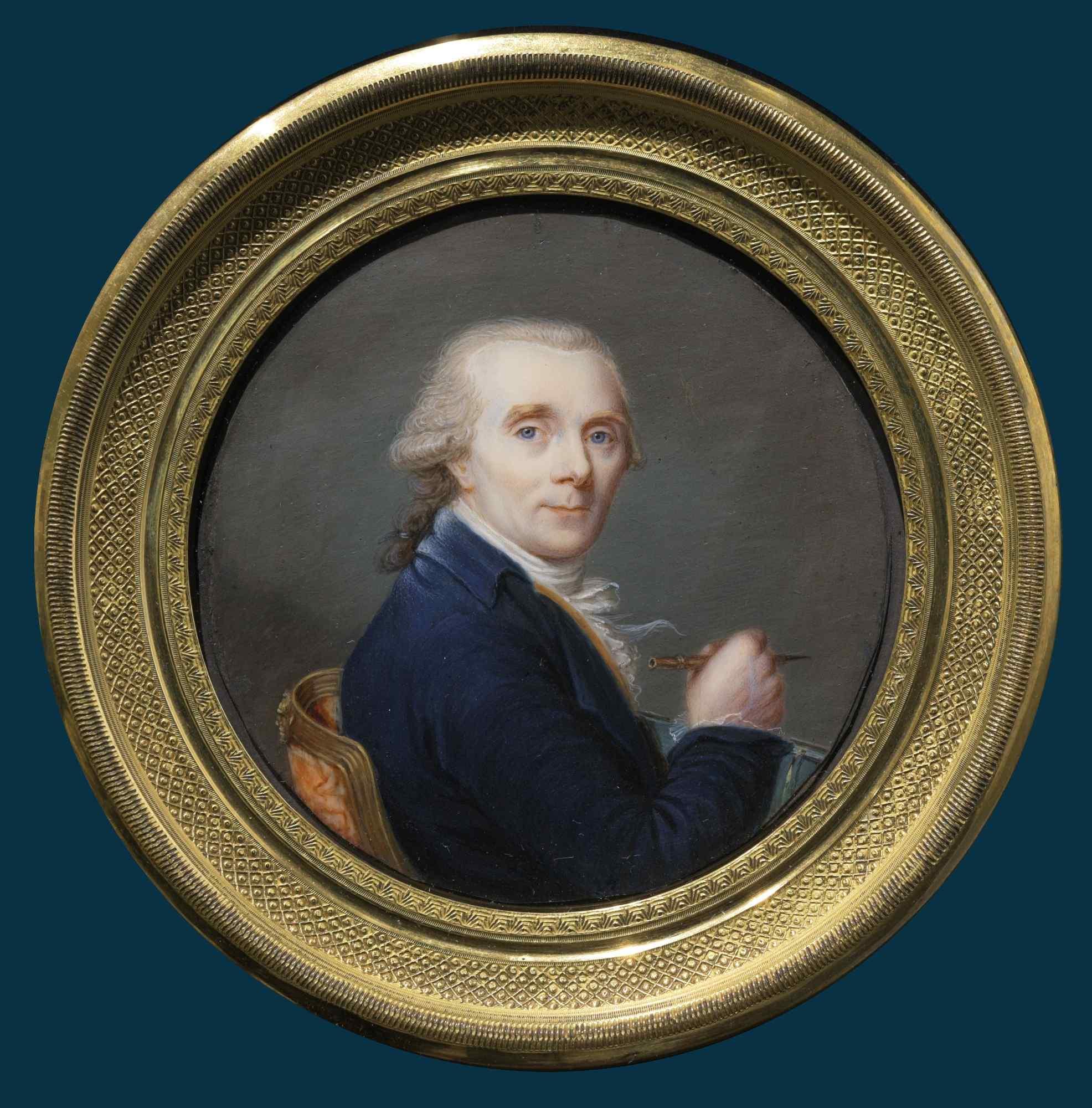 Ecole française, portrait miniature d'un Jean-Laurent Mosnie