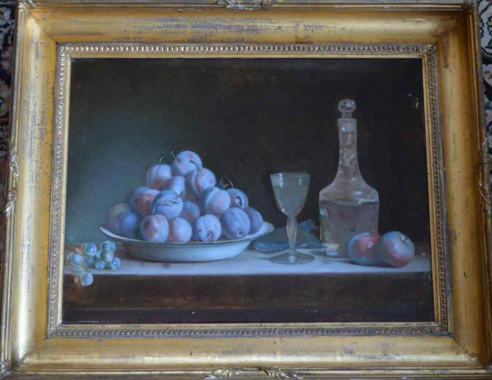 Anne Vallayer-Coster (attributed to), Still Life With Plums.
