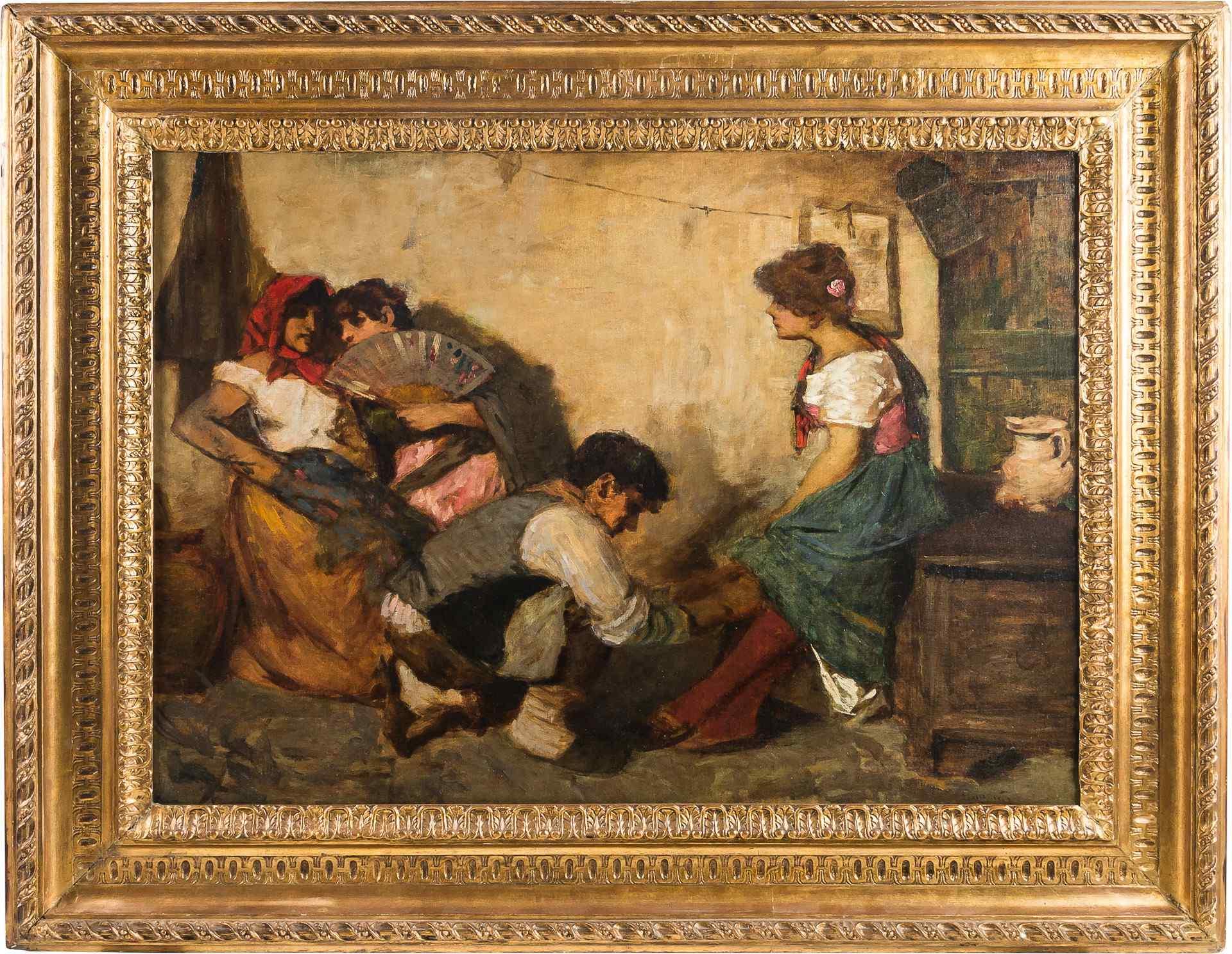 Cesare Laurenti, Il Corteggiamento, Venezia XIX sec.